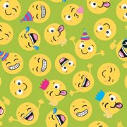 Emoticons Roll Wrap 2m